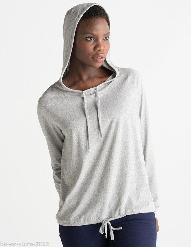 damen hoodie langarmshirt mit kapuze beverstore. Black Bedroom Furniture Sets. Home Design Ideas